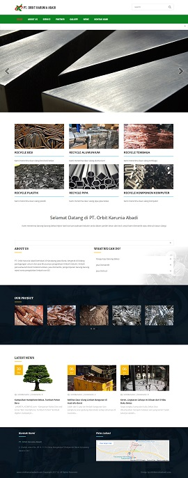 Contoh desain website company profile - www.orbitkaruniaabadi.com