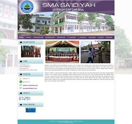 Contoh desain website sekolah - www.smasaidiyah.sch.id