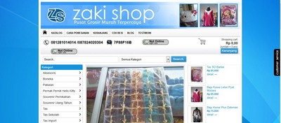 www.zaki-shop.com Sudah Jadi