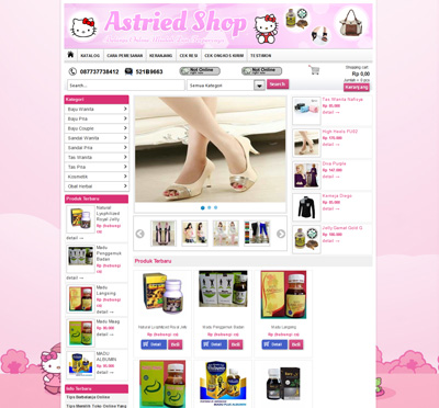 website astried shop
