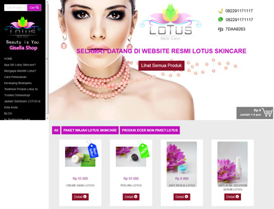 website lotus skin care