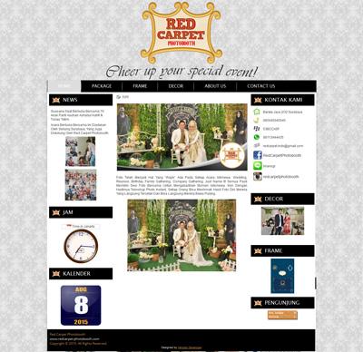 website red carpet photobooth