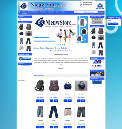 website-niew-store