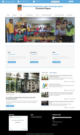 website-perindagpapua