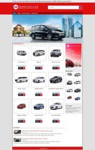 Contoh Desain Website Rental Mobil
