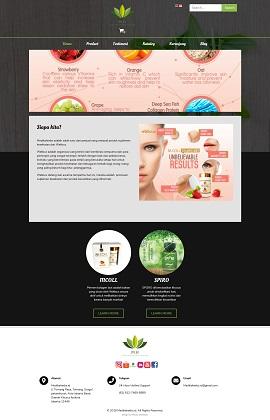 Contoh desain website toko online – medikaherbs.id
