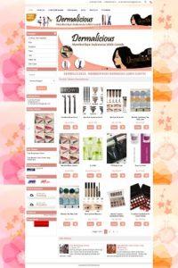 contoh desain toko online kosmetik