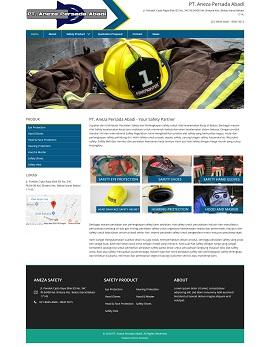 contoh desain web di bekasi anezasafety.com