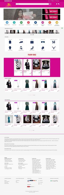 contoh desain web di bekasi - ernasboutique.com