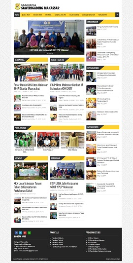 Contoh Desain Website Kampus