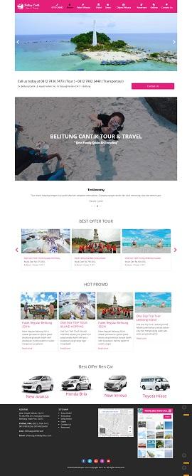 Contoh Desain Website Travel Murah
