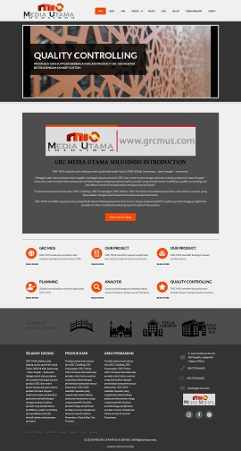 Contoh desain website company profile - www.grcmus.com