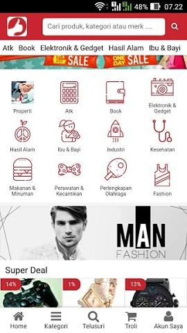 contoh desain aplikasi android marketplace