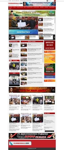 Contoh Desain Web berita wordpress