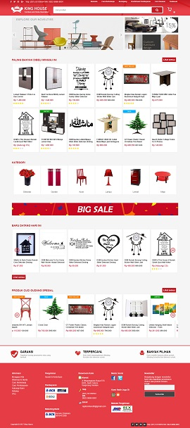 Contoh Desain Website Mebel atau furniture