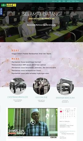 Contoh desain web sekolah