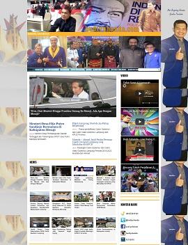 Contoh desain website website anggota dpr ri