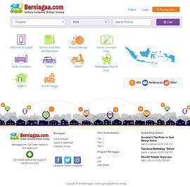 contoh desain website marketplace