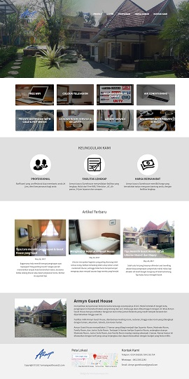 Contoh Desain Website Hotel - www.armynguesthouse22.com