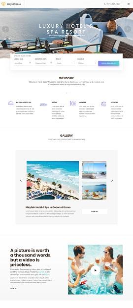 Contoh Desain Website Hotel