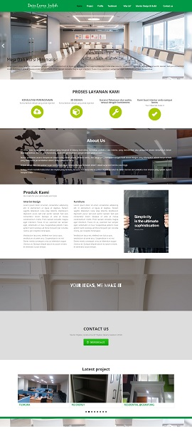 Contoh Desain Website Interior Kantor