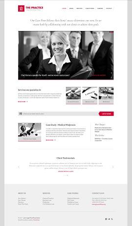 Contoh Desain Website Pribadi Lawyer
