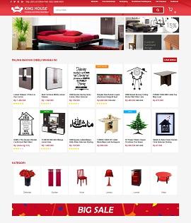 Contoh desain website ecommerce