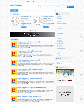 Contoh desain website lowongan kerja