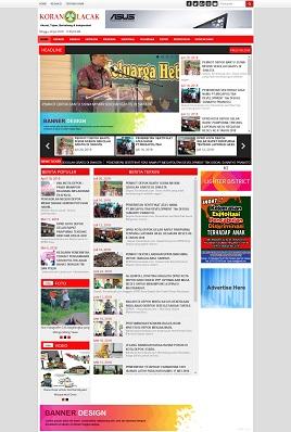 Contoh desain website media online - koranlacak.com