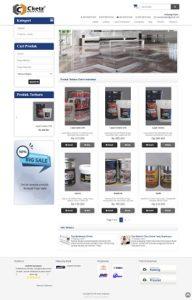 Contoh desain website toko online