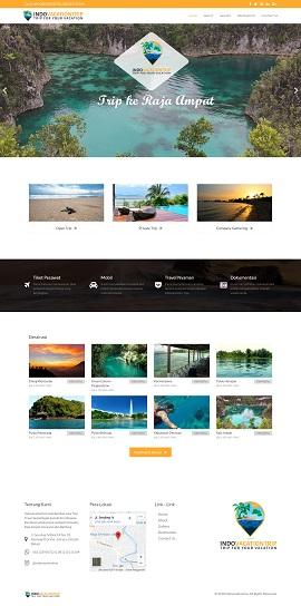 Contoh hasil desain development web tour travel