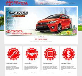 contoh desain website sales otomotif