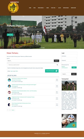 Contoh website forum