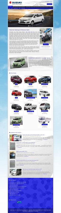 Contoh desain website di solo – www.dealersuzukiklaten.com