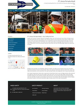 Contoh desain website company profile - www.anezasafety.com