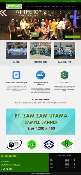 Contoh desain website company profile - www.zamzamutama.com