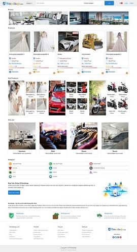 Contoh desain website marketplace - www.rentalinaja.com