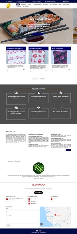 Contoh desain website toko online – www.lancarjaya.id
