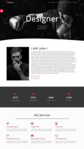 contoh desain web pribadi