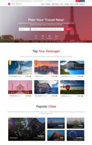 contoh web design pariwisata