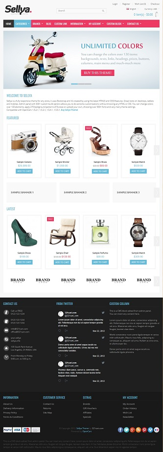 contoh web online shop sederhana