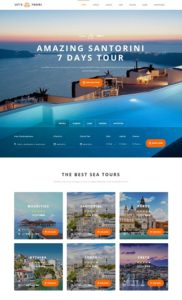 contoh web travel