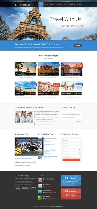 contoh website tour and travel