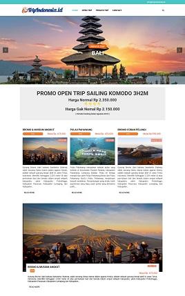 contoh website tour travel pariwisata