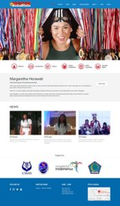 Contoh desain website pribadi - www.margarethaherawati.com