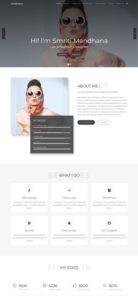 contoh tampilan web pribadi
