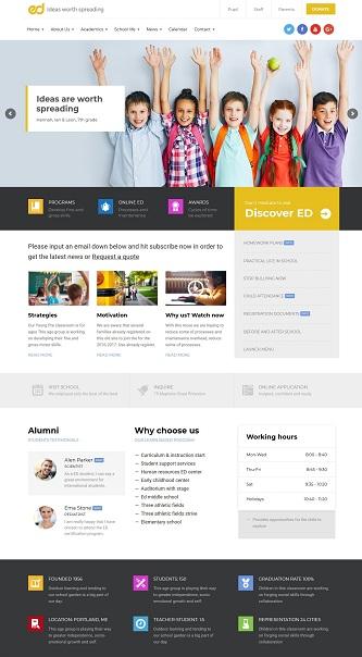 contoh template web sekolah