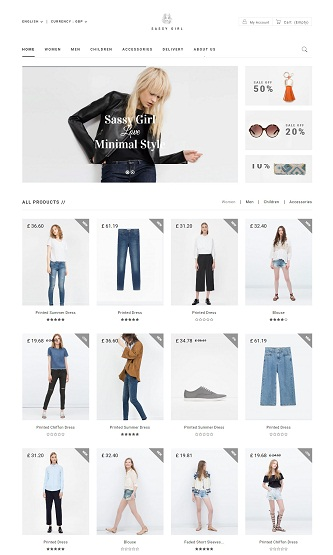 contoh web ecommerce