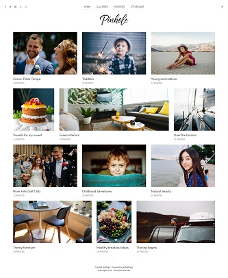 contoh website gallery