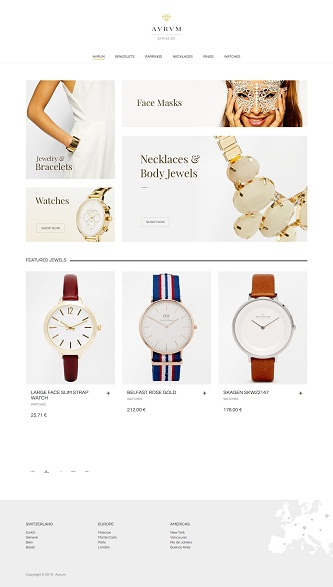 contoh website online shop